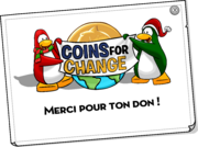 Coins For Change Card full award fr