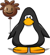 Brown Puffle Balloon on a Player Card