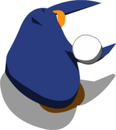 Penguin Chat snowball throw