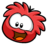 Red puffle pin