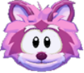 Pink raccoon 3d icon