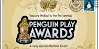 You're Invited to Penguin Play Awards postcard