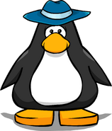 Blue Felt Hat from a Player Card