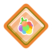 Rainbow O'berry Pin icon