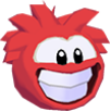 Red puffle 3d icon