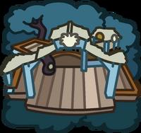 White Puffle Tree House icon
