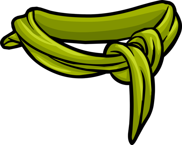 File:Green Cotton Scarf clothing icon ID 3044.png