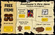 Rockhopper's Rare Items August 2008
