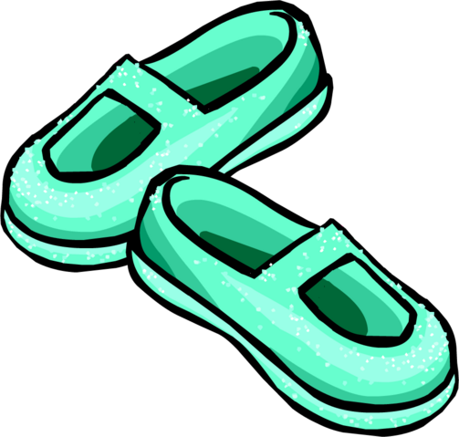 File:Sparkly Sea Foam Slippers icon.png