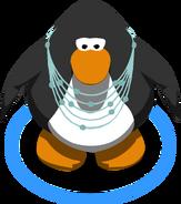 Raindrop necklace on a penguin