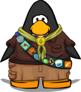 Puffle Guide Uniform on a Player Card