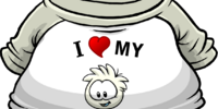 I Heart My White Puffle T-Shirt