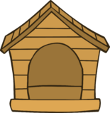 Brown Puffle House