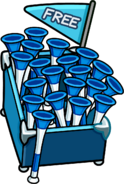 Penguin Cup Beach Sharks Vuvuzela stand