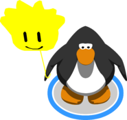 Yellow Puffle Balloon in-game