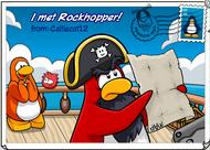 I met Rockhopper postcard