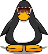 White Diva Sunglasses from a Player Card