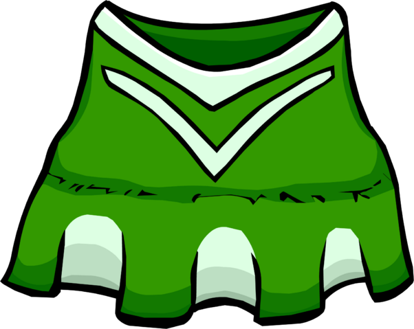 File:Green Cheerleader clothing icon ID 4116.png