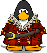 Swashbuckler's Coat on a Player Card
