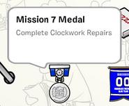 Mission 7 medal stamp book