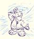 Water Ninja Sketch card image