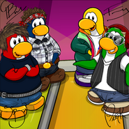 Penguin Band Background photo