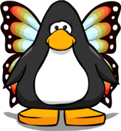 Butterfly Wings on a Player Card