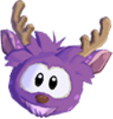 Purple deer 3d icon
