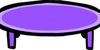 Purple Coffee Table