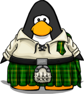 Emerald Kilt on Player Card