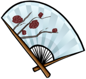 Snow Rose Fan clothing icon ID 5251