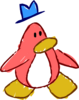 Doodle Dimension penguin Peach hat