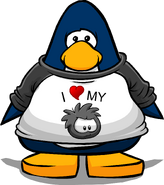 I Heart My Black Puffle T-Shirt player card