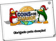 Coins For Change Card full award pt