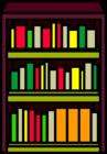 Burgundy Bookshelf sprite 002