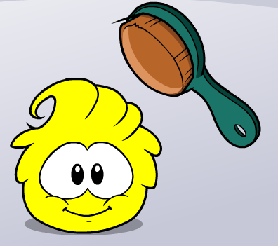 File:Yellow puffle being brushed.png