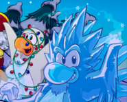 Frost Bite with Arctic White Penguin