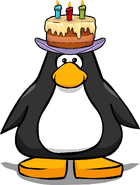 Happy Birthday Hat on a Player Card