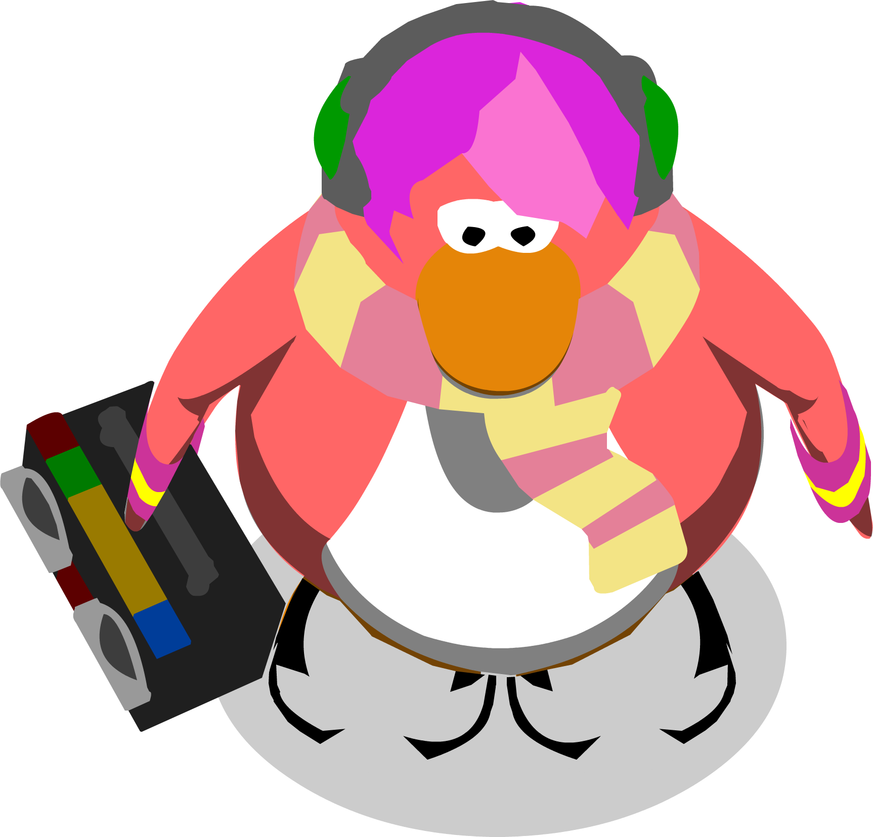 File:Cadence With Boombox In-game.png