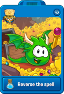 Green Player Card Dragon