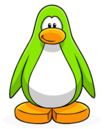 Lime Green Penguin Create
