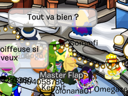 Kermit on French Server Yeti at Ski Village