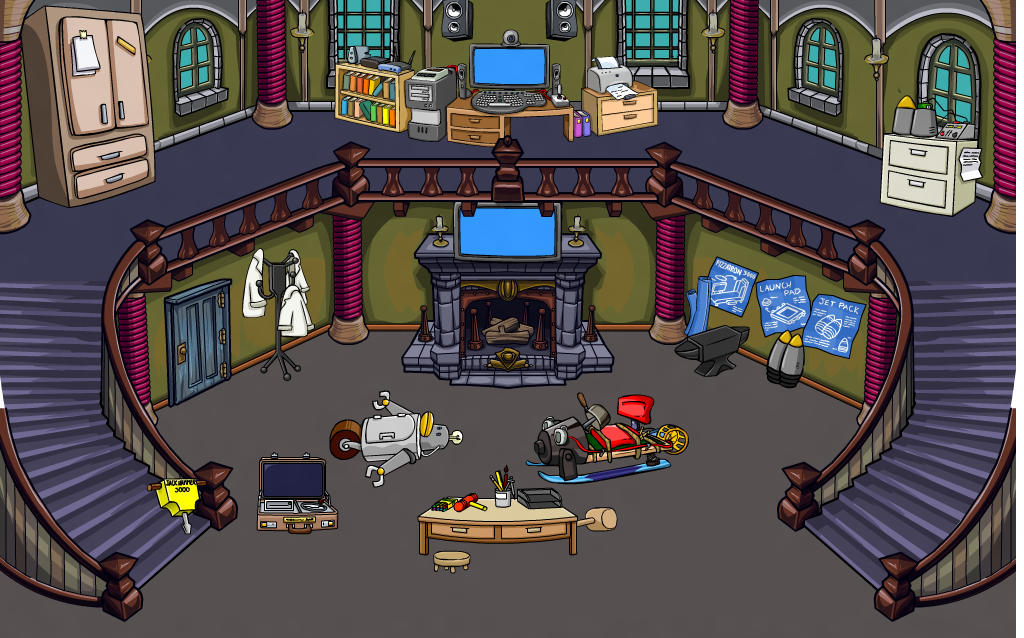 how to make custom club penguin rooms