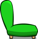 Green Plush Chair sprite 007