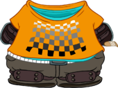 Orange Skater Outfit