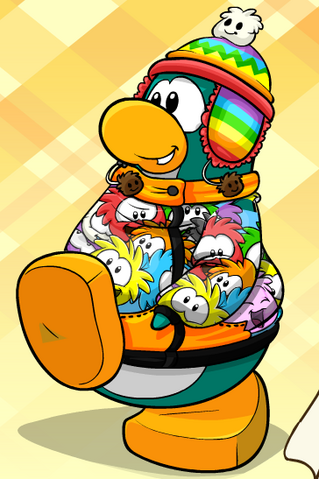 File:Penguin with Rainbow Puffle Toque.png