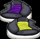 Purple & Yellow Laced Hightops icon