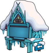 FrozenPartySnowFortsClockTowerFrozen
