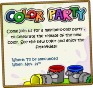 Color Party Ad