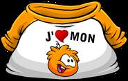 I Heart My Orange Puffle T-Shirt icon fr